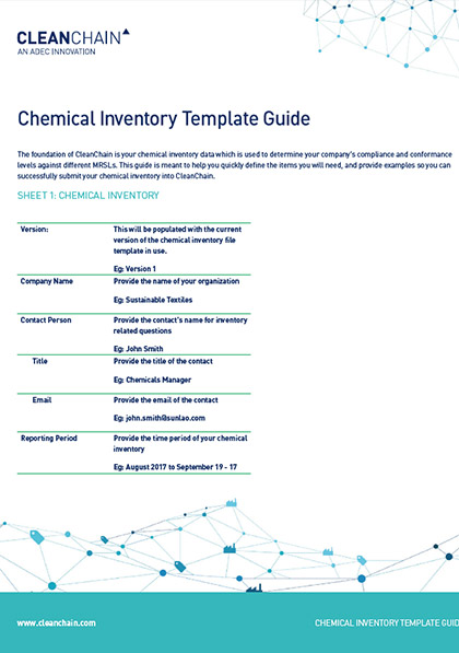 Chemical Inventory Template Guide