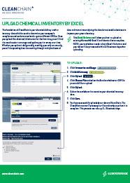 通过Excel上传化学品清单