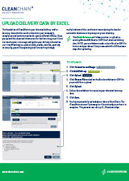通过Excel上传交付清单